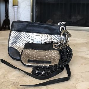 BCBG Max Azria Leather Wristlet